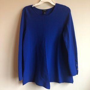 Alfani royal blue knit blouse medium